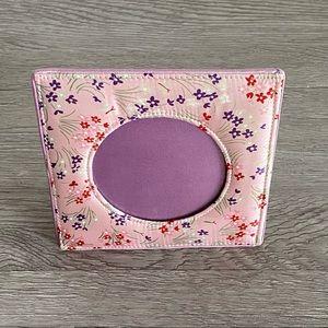 Vintage Fetco 100% Silk Pink Floral Picture Frame